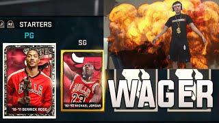 CRAZY OVERTIME WAGER ONYX ROSE + JORDAN!!!! - NBA2K15 MY TEAM