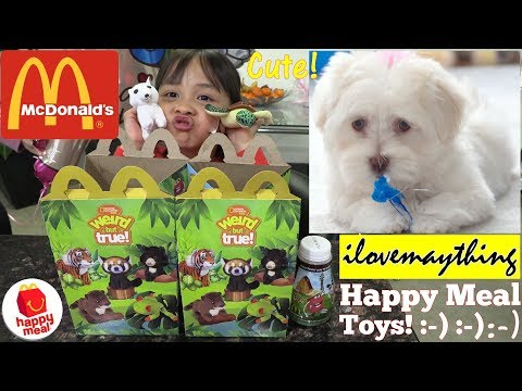 McDonald's Happy Meal Toy Review. Happy Meal Animal Plush Toys. Grooming the Cutest Puppies!