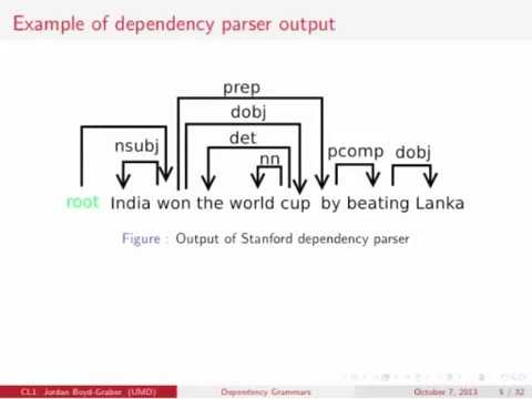 Computational Linguistics 1: Dependency Parsing