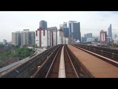 LRT KJ Line KJ12 Dang Wangi - KJ24 Kelana Jaya Bombardier Innovia Metro 300 (Part 2)