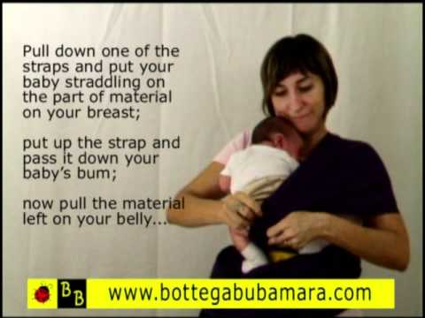 Stretch Sling Baby Carrier Belly To Belly Position Kangaroo Pouch