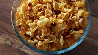 Cornflakes Chivda - Indian Namkeen (snack) - Diwali Recipe By Teamwork food