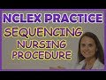 NCLEX Drag and Drop Nursing Procedure Practice Question on Mixing Insulin