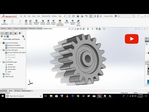 Spur Gear in SolidWorks TOOLBOX 2016 #4