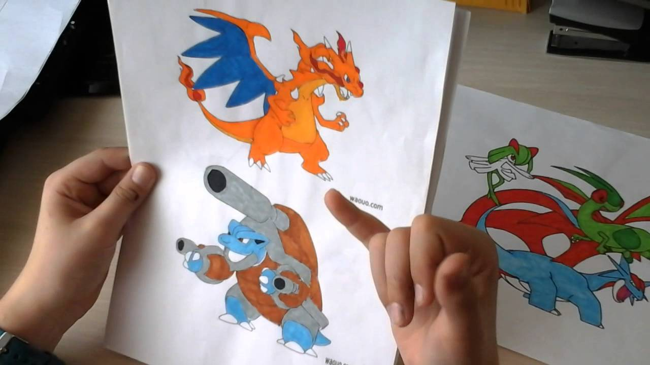 Mes Dessins Et Coloriage Pokemon Youtube