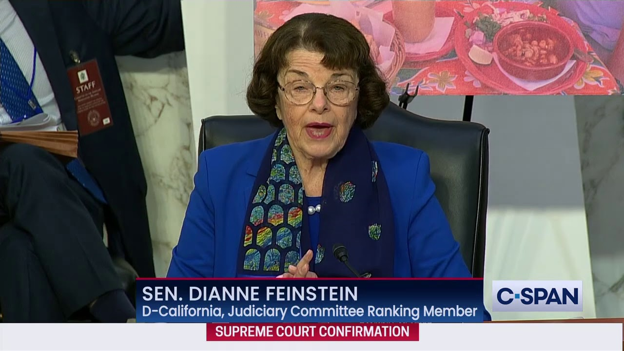 Oh Good, Dianne Feinstein Concluded the Barrett Hearings by ...