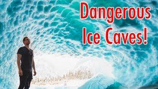Video INSIDE A MELTING ICE CAVE!! - WASHINGTON download MP3, 3GP, MP4, WEBM, AVI, FLV Juni 2018