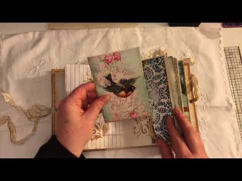 Nature & Bird themed vintage journal Hardcover ARTYmaze