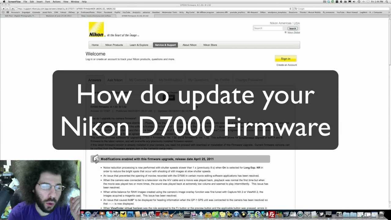 knikon d7000 how to find shutter count