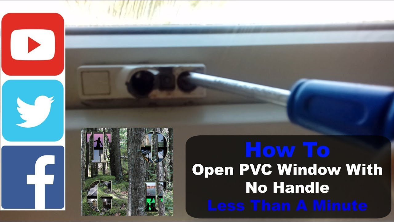 Opening Pvc Window No Handle Very Quickly Open A Stuck Closed