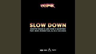 Slow Down (Dimitri Vegas & Like Mike & Quintino) (feat. Ali B, I Am Aisha, Boef & Ronnie Flex)