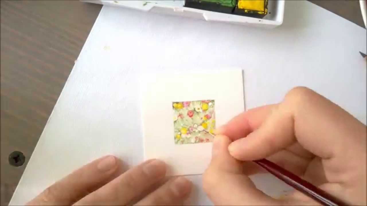Tiny Spring 18 04 2015 Miniature Watercolor Series Painting 25cm