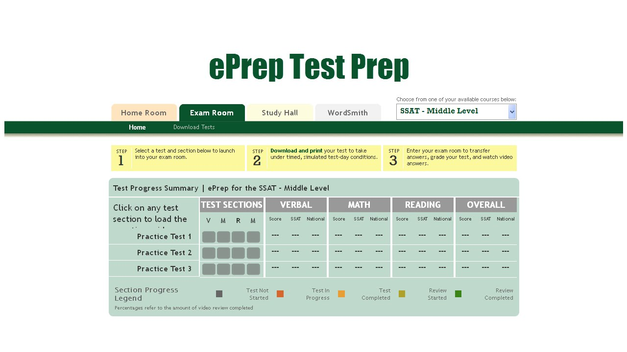 picture regarding Printable Ssat Practice Test titled SSAT Teach Check out Higher Stage Centre Position ePrep