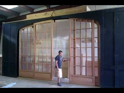 CUSTOM EXTERIOR POCKET DOORS - YouTube