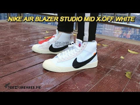 59fe6450b8fb36 OFF WHITE X NIKE BLAZER MID REVIEW AND ON FOOT !!! sneaker yeezy
