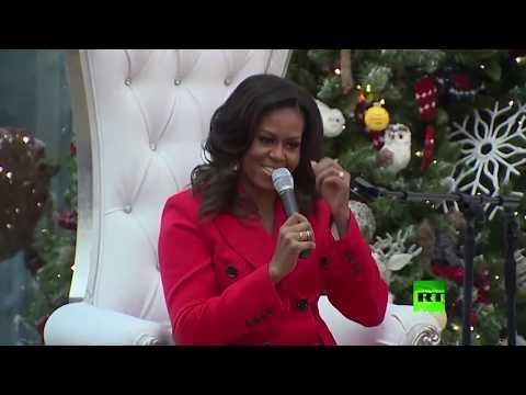 شاهد.. رقصة نارية لـ ميشال أوباما مع سانتا كلاوز  - نشر قبل 13 ساعة