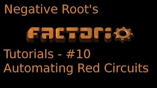 Factorio Tutorial 10 - Automating Red Circuits