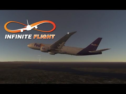 (infinte flight live)Fedex B777-F KSAN-KLAX