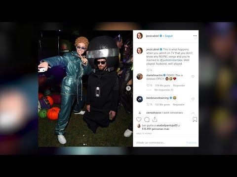 Timberlake y Jessica Biel brillan con su disfraz de Halloween