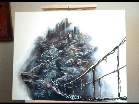 Dark Souls Art - Painting the Painted World (oil paint on canvas)