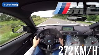 BMW M2 Acceleration & Top Speed Autobahn POV 272 km/h - M Performance Exhaust Sound