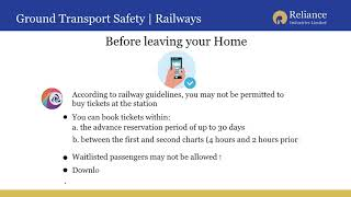 Guidelines for Rail Travel during the Covid-19 Pandemic