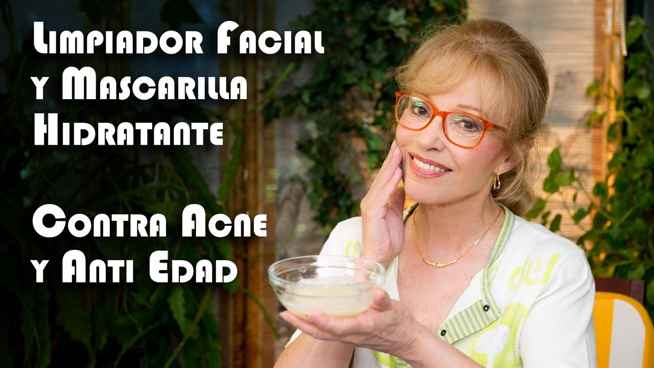 Limpiador Facial y Mascarilla Hidratante, Contra Acne y Anti Edad