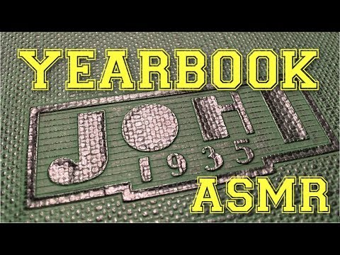 ASMR Yearbook (page turning, pointing, soft spoken)
