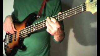 The Hollies - The Day That Curly Billy Shot Down Crazy Sam Mcgee - Bass Cover