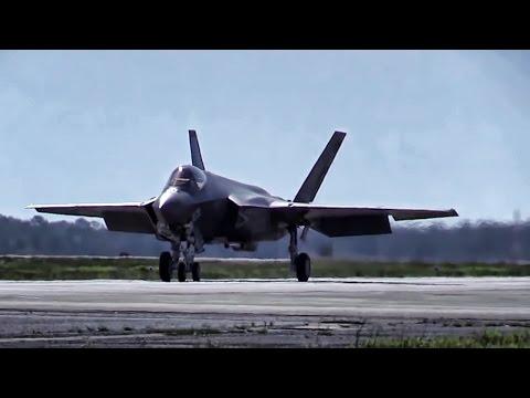 F-35 Aircraft Takeoff & Land At Eglin AFB