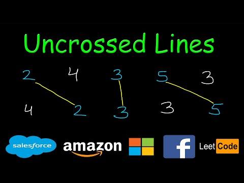 Uncrossed Lines | Dynamic  Programming | Leetcode #1035