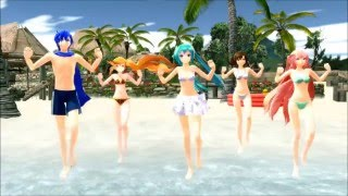[MMD] Feel The Sound - Beach Day - HD (+Beach Model DL's)