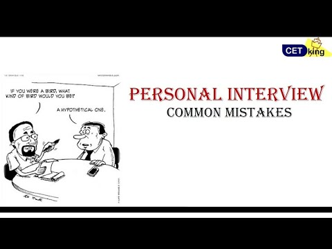 Tell me about yourself/Common Mistakes - Part I