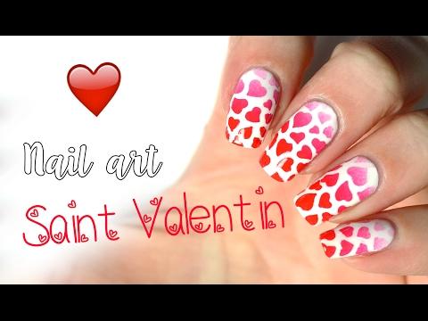 💝  Nail art Saint Valentin : des coeurs partout! 💕