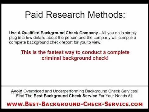 Criminal Background Check Free Methods Vs Paid Background Check