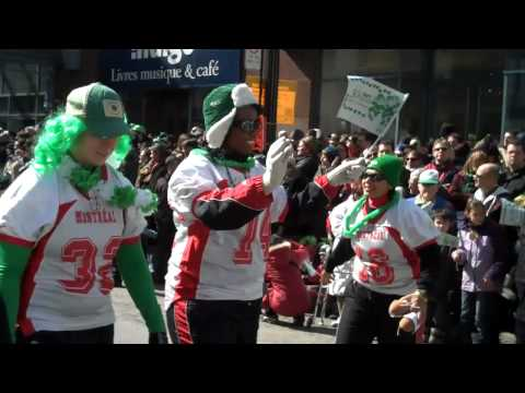 Montreal Blitz Football - Saint Patrick's day parade