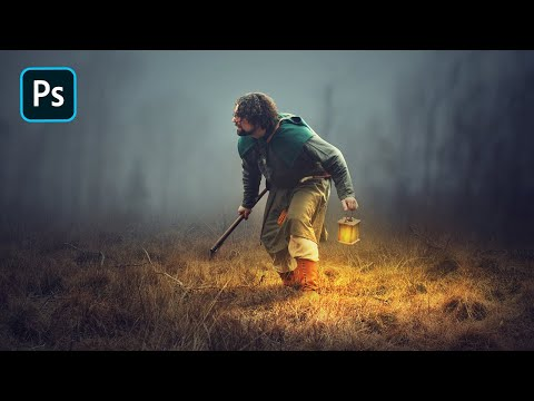 Photoshop Manipulation Tutorial - Adding Light Effects in Ph