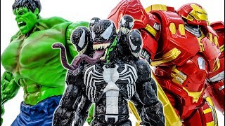 Venom Appeared~ Animals Are In Danger~ Avengers Come And Rescue Animals #Toymarvel