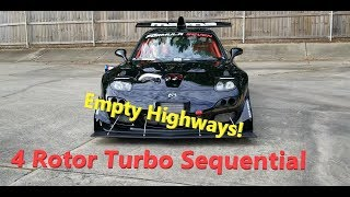 Turbo 4 Rotor F1 Air Shifted Sequential BLASTS Highways During Social Distancing!