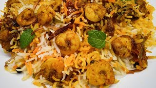 Prawns Dum Biryani | झींगा / प्रॉन बिरयानी | Shrimp / Jhinga Biryani |  | How to Make Prawns Biryani