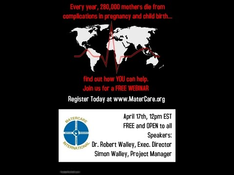 MaterCare On-Air: Informative Session with Dr. Robert Walley and Simon Walley, Project Manager