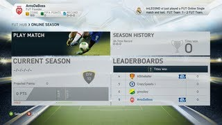 FIFA 14 Ultimate Team - Getting My Team Situated Feat. First Game Online