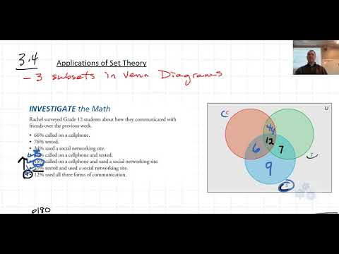 Fm 30 34 Venn Diagram With 3 Sets Example Youtube