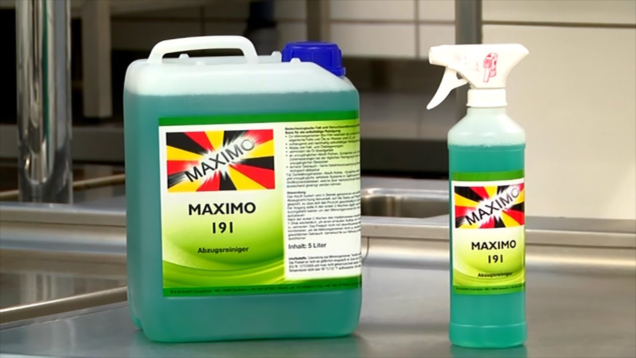 Maximo 191 abzugsreiniger für die professionelle reinigung der