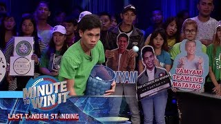 Triple Pong Plop | Minute To Win It - Last Tandem Standing