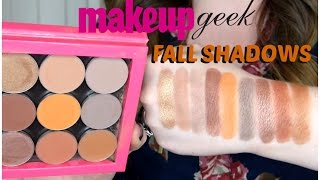 MakeupGeek Fall Shadows   2016