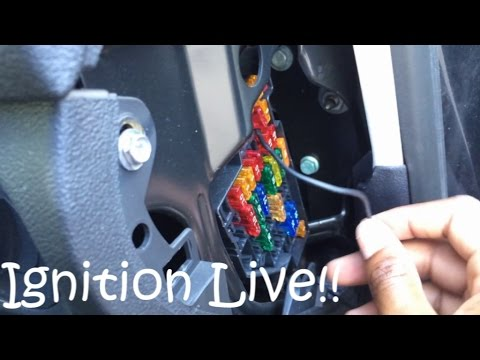 Wiring An Ignition Live on Audi A3 - YouTube