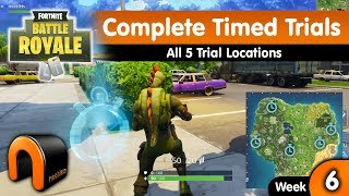 COMPLETE TIMED TRIALS Fortnite REAL LOCATIONS Time Trial Locations