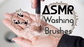 ☺♥ 3D ASMR Washing Make Up Brushes to Help You Sleep ♥☺ !NO TALKING! water sounds, tapping, brushing
