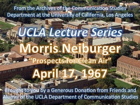 Morris Neiberger lecturing at UCLA 4/17/1967
